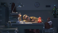 Exhausted businesswoman sleeping on the desk at night - PhotoDune Item for Sale
