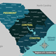 Map of State South Carolina USA - GraphicRiver Item for Sale