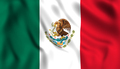 Mexican flag waving in the wind. - PhotoDune Item for Sale