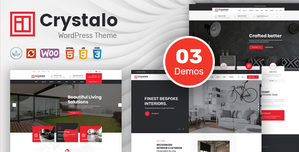 Crystalo - Architecture and Interior Design WordPress Theme