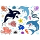 Big Set Sea Animals Color on White - GraphicRiver Item for Sale