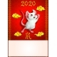 Poster Cheerful Mouse and on Hyeroglyhs on Red - GraphicRiver Item for Sale