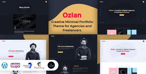Ozlan -  Minimal Portfolio WordPress Theme