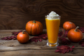 Vegan pumpkin spice latte with whipped cream - PhotoDune Item for Sale