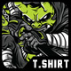 Masked Hunter T-Shirt Design - GraphicRiver Item for Sale