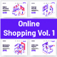 10 Online Shopping Isometric Vol 1 - GraphicRiver Item for Sale