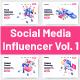 10 Social Media Influencer Vol 1 - GraphicRiver Item for Sale