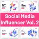 10 Social Media Influencer Vol 2 - GraphicRiver Item for Sale