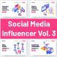 5 Social Media Influencers Vol 3 - GraphicRiver Item for Sale