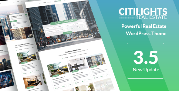 CitiLights - Real Estate WordPress Theme Download