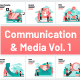 10 Communication and Media Illustrations Vol 1 - GraphicRiver Item for Sale