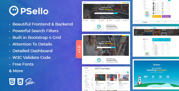 Psello - Classified listing HTML Template