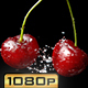Cherry Fruits and Water Splash - VideoHive Item for Sale