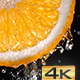 Water Flowing Down the Orange Slice - VideoHive Item for Sale