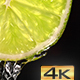 Water Flowing Down the Lime Slice - VideoHive Item for Sale