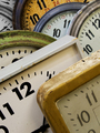 Group of old wall clocks - PhotoDune Item for Sale