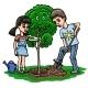 Children Plant Tree - GraphicRiver Item for Sale
