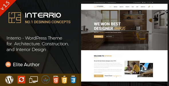 Interrio – WordPress Theme for Architecture and Interior Design