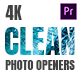 Clean Photo Openers - Logo Reveal - VideoHive Item for Sale