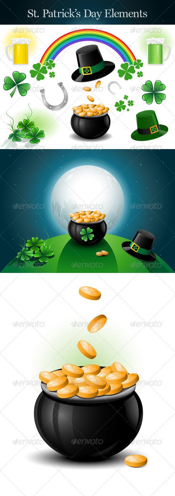 St. Patrick's Day Design Elements.