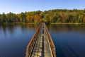Pedestrian Bridge Lake Crossing Adirondack State Park New York - PhotoDune Item for Sale