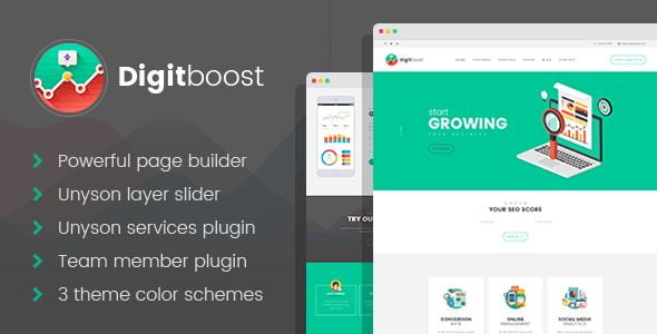 DigitBoost - Digital Marketing & SEO Agency WordPress theme