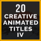 Creative Animated Titles - VideoHive Item for Sale