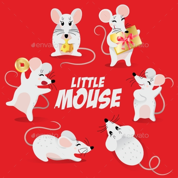 Chinese New Year Symbol Set  of Mouse
