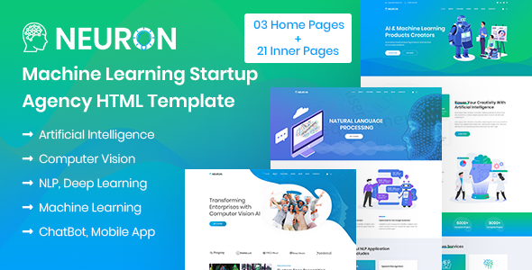 Neuron - Machine Learning & AI Startups HTML Template