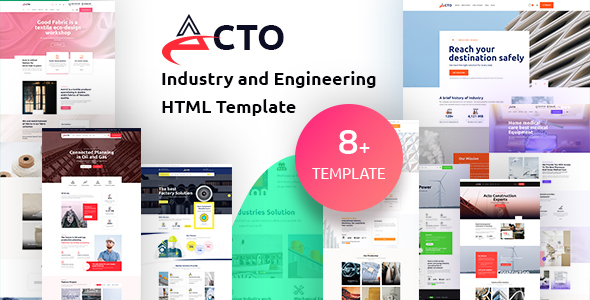 Acto – Industry and Engineering HTML Template, Gobase64