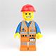 LEGO minifigure - Construction worker - 3DOcean Item for Sale
