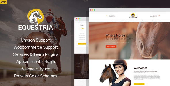 Equestria - Horse Riding Club WordPress Theme