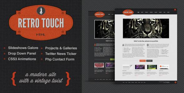 Retro Touch – Creative Portfolio Html Template