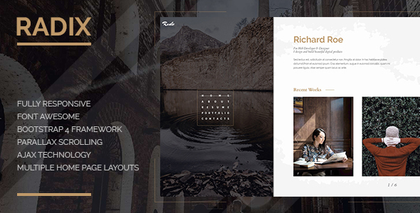 Radix -  Portfolio and Resume Template