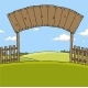 Wooden Fence with Gate - GraphicRiver Item for Sale