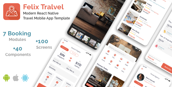 Felix Travel – mobile React Native travel app template