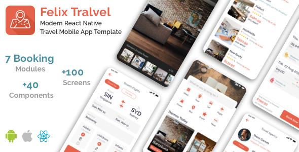 Felix Travel – mobile React Native travel app template