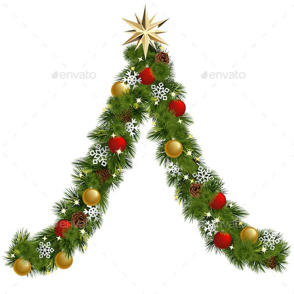 Vector Christmas Garland Tree