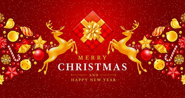 Festive Christmas and New Year Greeting