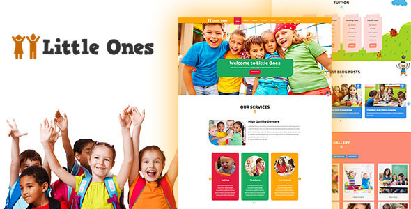 Little Ones - One Page Children/Daycare WordPress Theme