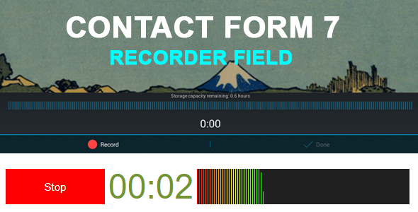 Contact Form 7 Recorder Field