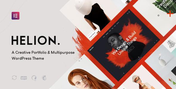 Helion | Personal Creative Portfolio WordPress Theme + Store