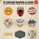 12 Vintage Badges & Logo Version 1 - GraphicRiver Item for Sale