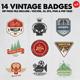 14 Vintage Badges & Logo Version 2 - GraphicRiver Item for Sale