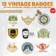 12 Vintage Badges & Logo Version 3 - GraphicRiver Item for Sale
