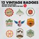 12 Vintage Badges & Logo Version 4 - GraphicRiver Item for Sale
