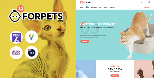 Forpets - Food Shop WooCommerce Theme