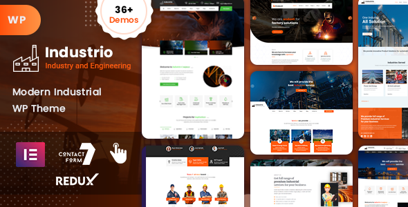 Industrial - Industry & Factory WordPress