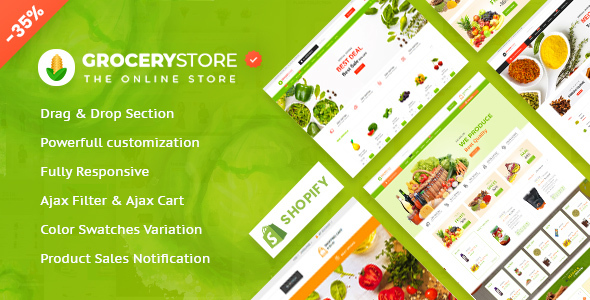 Grocery Store - Vegetable , Organic & Supermarket  Responsive Shopify Theme