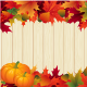 Autumn Leaves Thanksgiving Border - GraphicRiver Item for Sale